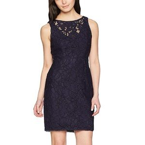 Adrianna Papell Petite Lace Halter Sheath Dress